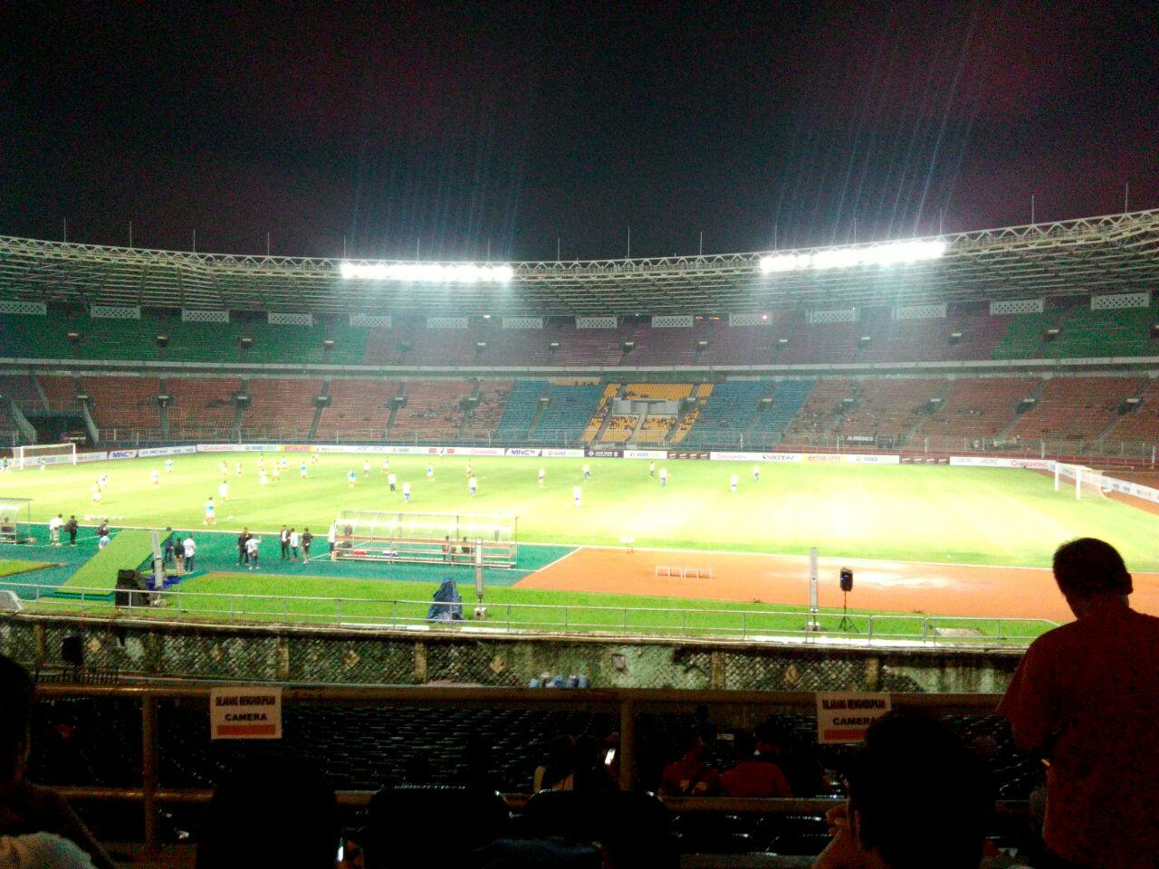 Ilustrasi stadion sepi. Foto: Sandy Firdaus
