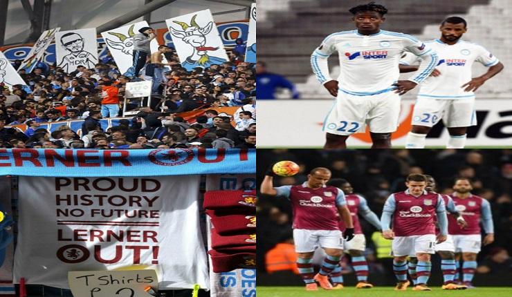 Aksi Protes Suporter Marseille dan Aston Villa