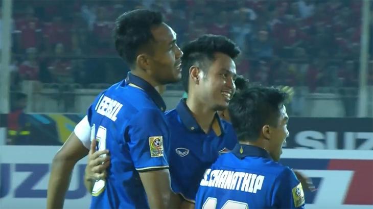 Teerasil Dangda Pencetak Gol Terbanyak Sementara Piala AFF 2016
