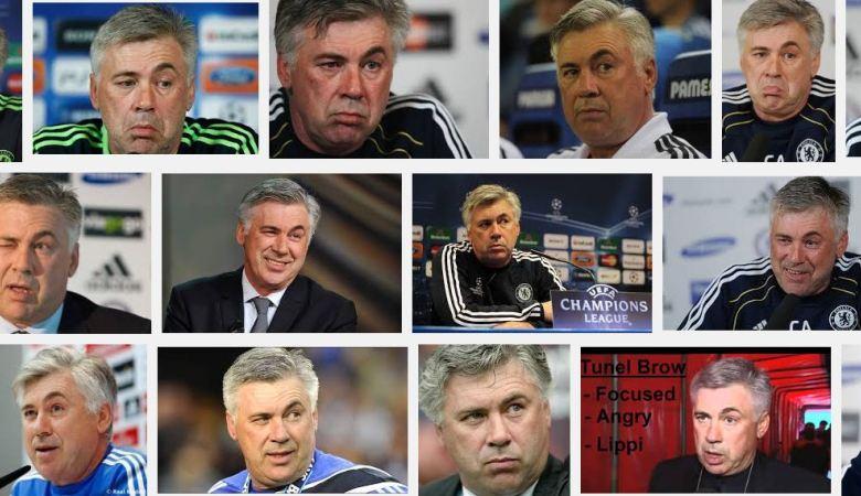 Tak Ada Cerita Khusus di Balik Alis Unik Carlo Ancelotti
