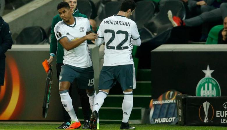 Cedera Mkhitaryan Warnai Kemenangan Manchester United atas Saint-Etienne