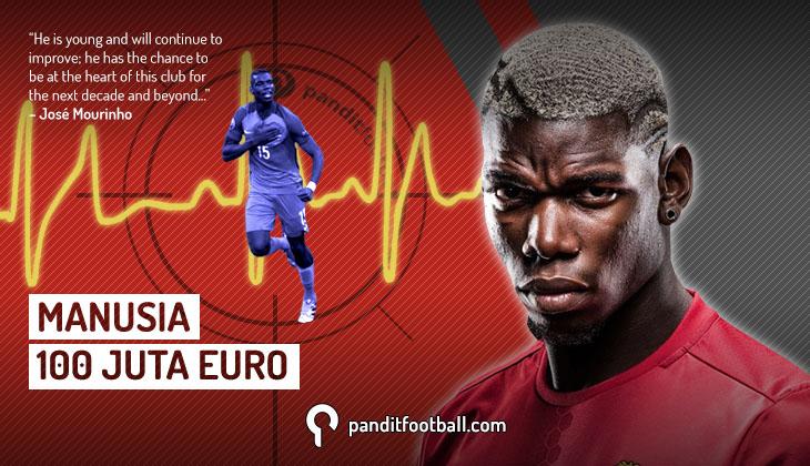 Harga Paul Pogba Memang Lebih dari 100 juta Euro