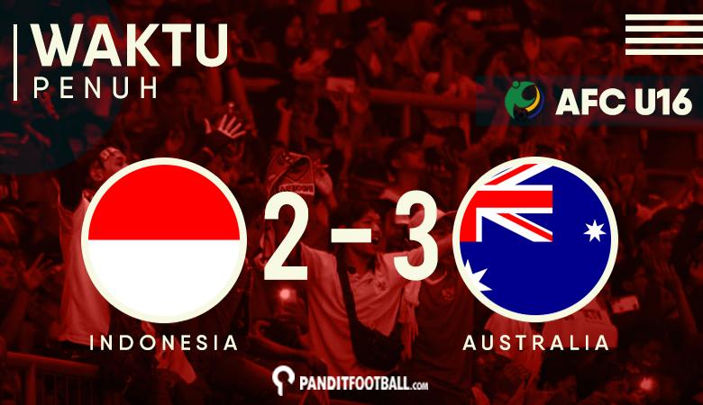 Kalah dari Australia, Indonesia Gagal ke Piala Dunia U17