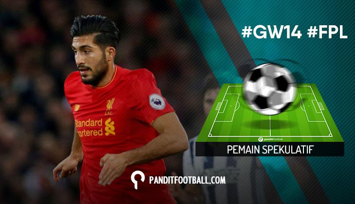 Pemain Spekulatif FPL Pilihan PanditFootball: Gameweek 14