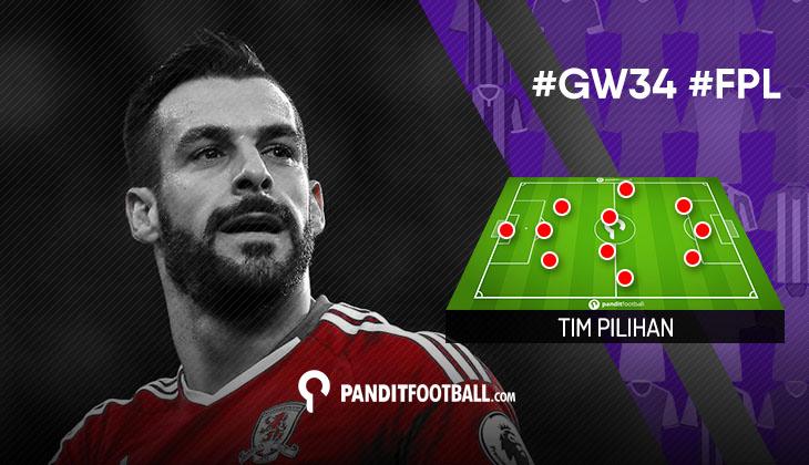 Tim Pilihan PanditFootball: Gameweek 34