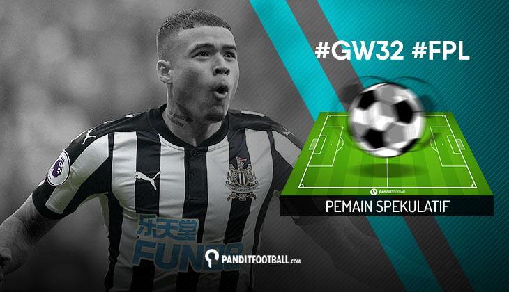 Pemain Spekulatif FPL PanditFootball: Gameweek 32