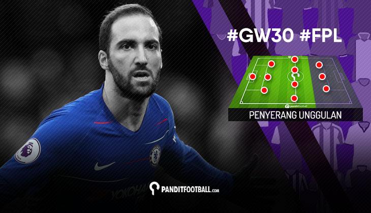 Penyerang Unggulan FPL PanditFootball: Gameweek 30
