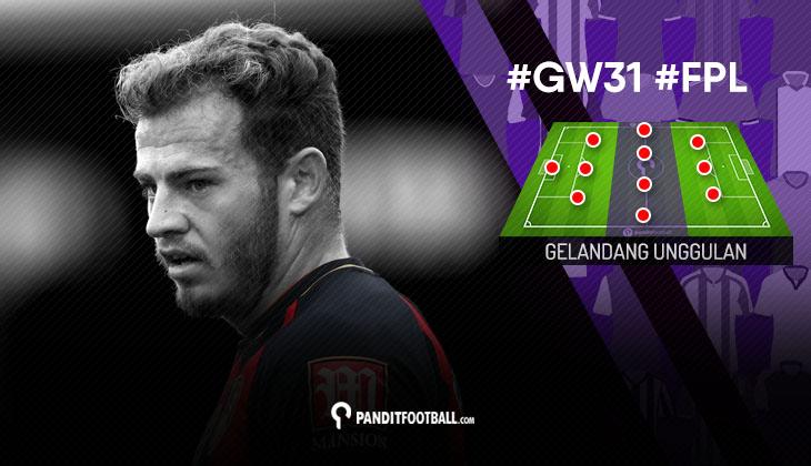 Gelandang Unggulan FPL PanditFootball: Gameweek 31