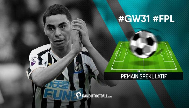 Pemain Spekulatif FPL PanditFootball: Gameweek 31