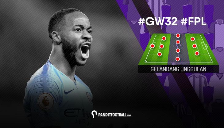 Gelandang Unggulan FPL PanditFootball: Gameweek 32