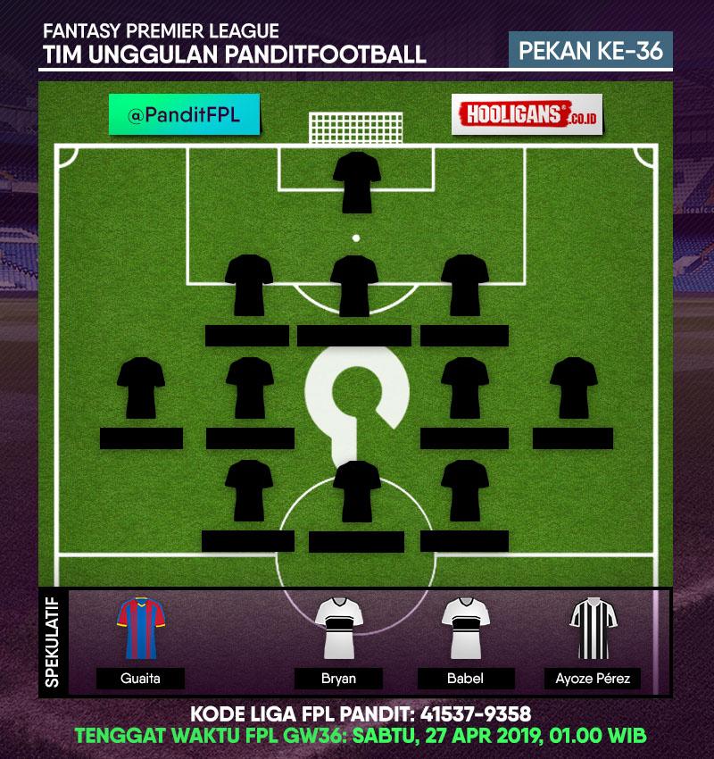 Pemain Spekulatif FPL PanditFootball: Gameweek 36