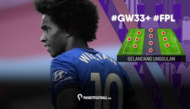 Gelandang Unggulan FPL PanditFootball: Gameweek 33+