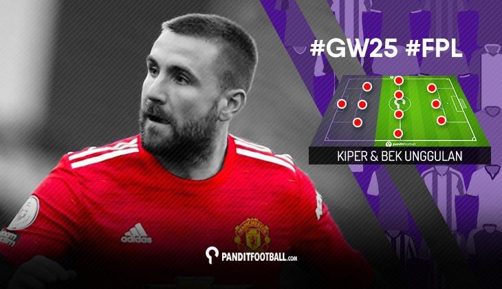 Kiper dan Bek Unggulan FPL PanditFootball: Gameweek 25