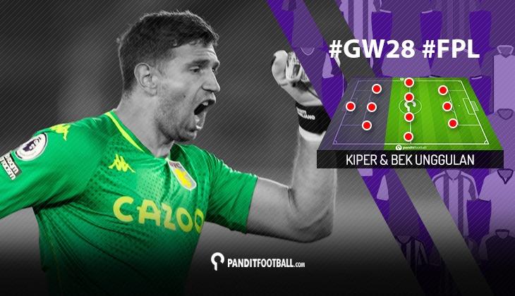 Kiper dan Bek Unggulan FPL PanditFootball: Gameweek 28