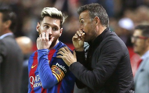 Enrique Akui Barcelona Sangat Bergantung kepada Messi