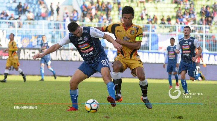 Hasil Liga 1 2018: Arema FC VS Mitra Kukar 2-2