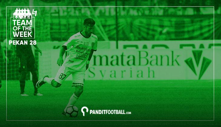 Team of the Week Pekan ke-28 Liga 1 2017 versi Panditfootbal