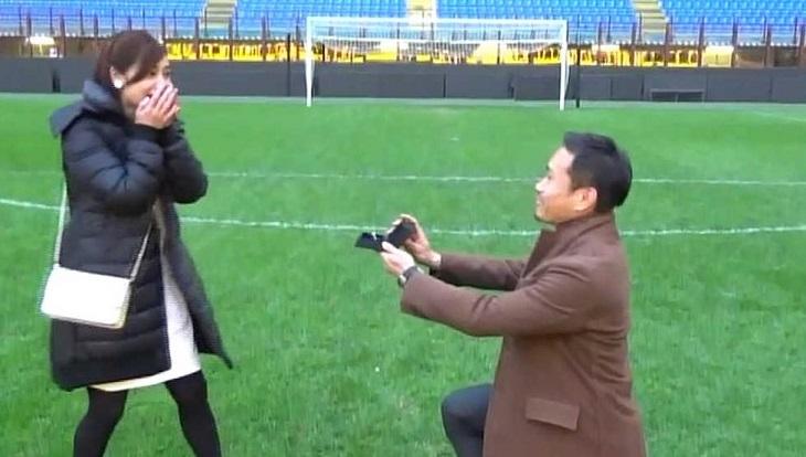Yuto Nagatomo dan Stadion Sebagai Tempat Melamar Kekasih