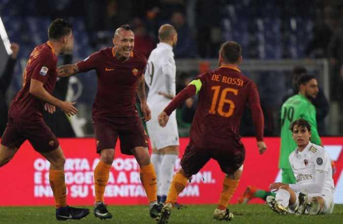 Roma Berhasil Mematikan Sayap Milan
