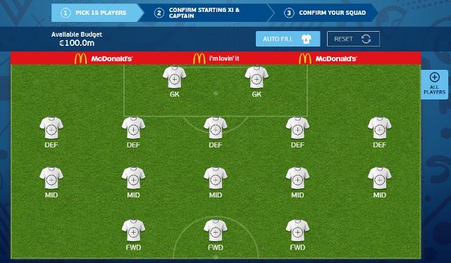 Tim Fantasy 16 untuk Pekan 2 Piala Eropa versi Panditfootball