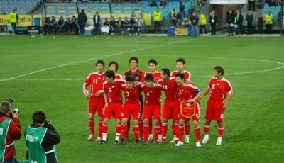 Pertandingan Internasional Pertama Timnas Tiongkok