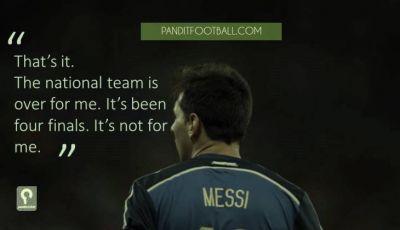 Messi Tidak Tercipta untuk Argentina
